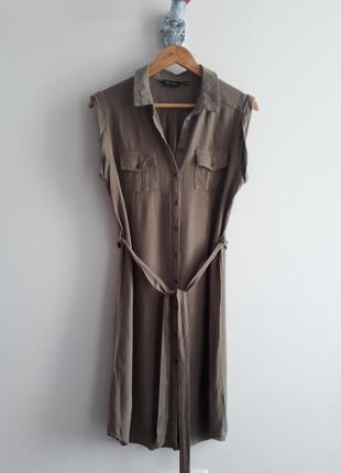 Красивое платье рубашка цвета хаки new look