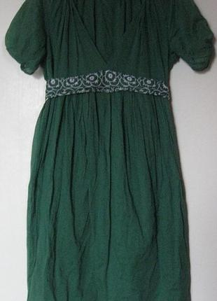 Платье зеленое тончайший коттон