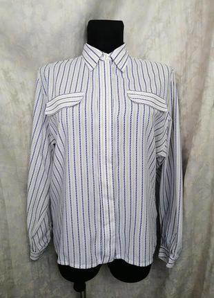 Белая рубашка в полоску с потайными пуговицами country casuals!