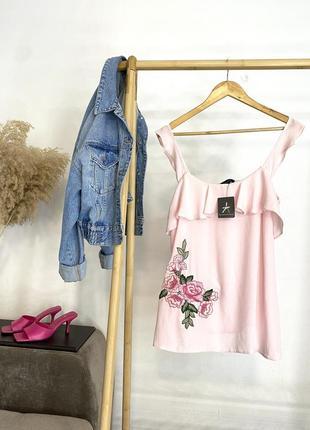 Новая розовая майка/блуза (s-m)