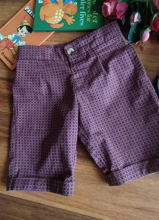 Классные хлопковые шорты mini club на 3-4 года.