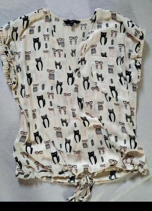 Блуза в котики next2 фото