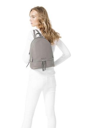 Оригинал! новый средний кожаный рюкзак майкл корс / michael kors