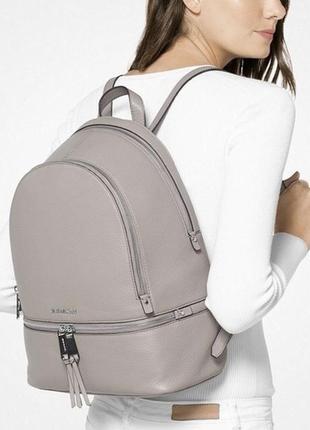 Новый большой кожаный рюкзак rhea large backpack майкл корс / michael kors