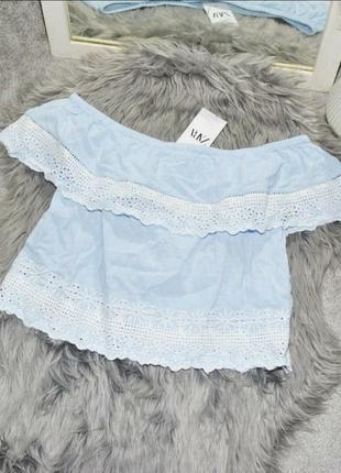 Шикарный, топ, футболка, опущенные плечи, волан, майка, блуза, блузка