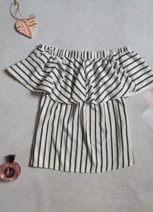 Блузка со спущенными плечами р.l