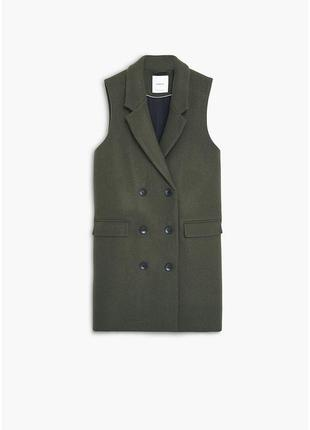 Стильный жилет-пальто mango не zara