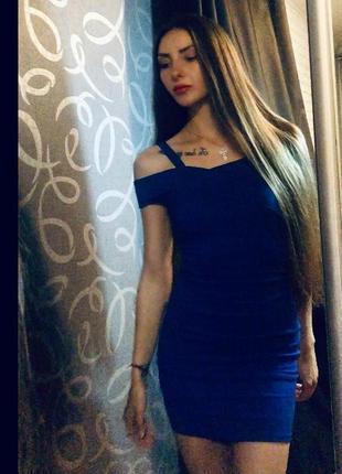Сукня коротка облягаюча стрейч джинс