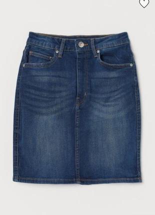 Юбка новая стильная джинсовая оригинал h&m uk 8/36/xs