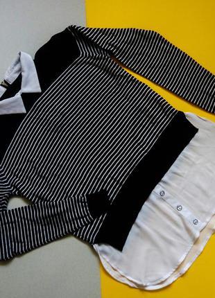 Джемпер,свитер с белой блузой