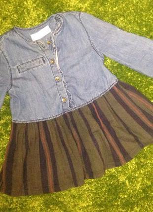 Джинсовое платье, туника zara