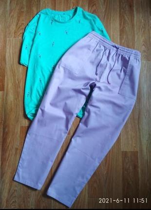 Повседневные котоновые брюки штани джинсы