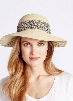 Пляжная шляпа из дышащей бумажой соломки marks&spencer.
