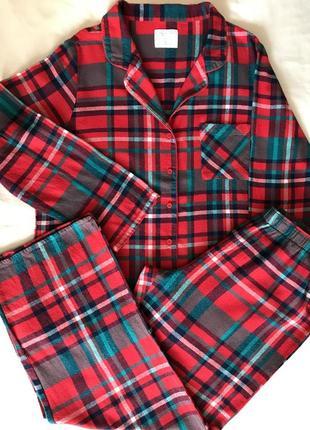 Піжамка котонова , трикотажна піжама, домашній костюм р-р л-хл