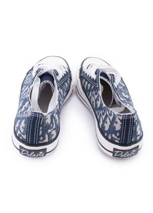 Женские синие кеды в принт,размеры 36-405 фото