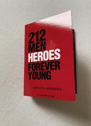 Новый пробник духов carolina herrera 212 men heroes
