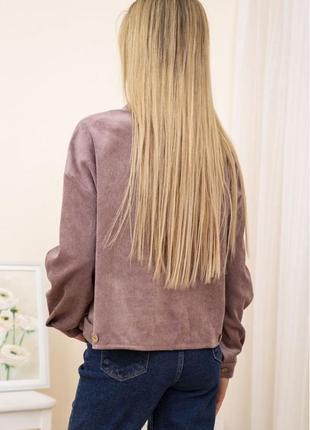 Новая деканская стильная куртка рубашка тренч пудровый цвет вельветовый2 фото