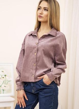 Новая деканская стильная куртка рубашка тренч пудровый цвет вельветовый1 фото