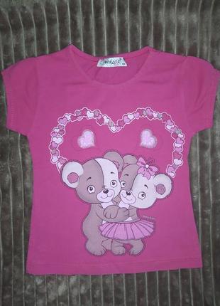 Летняя футболка на девочку
