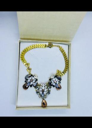 Италия шикарное колье ожерелье бусы намисто