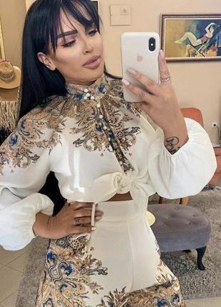 Турецкий костюм креп с шортами