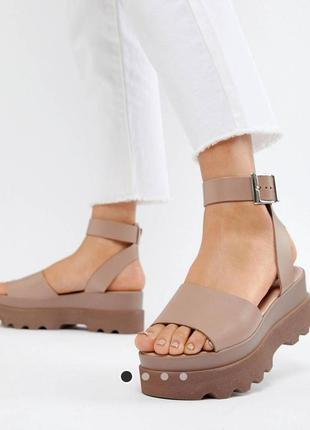 Натуральные кожаные босоножки сандалии асос asos кожа