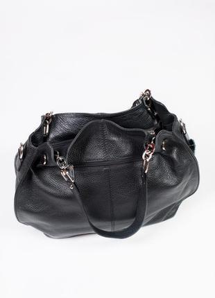 Большая и вместительная сумка из кожи.3 фото