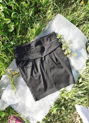 Темно-серая юбка-карандаш / офисная юбка / школьная юбка