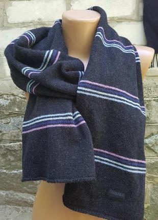 Шерстяной шарф gant италия