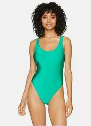 Стильний, якісний, красивий купальник зелений /ніжний бірюзовий закритий купальник boohoo