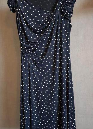 Max mara элегантное легкое платье в горошек