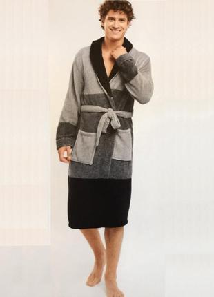 Мужской флисовый халат miomare