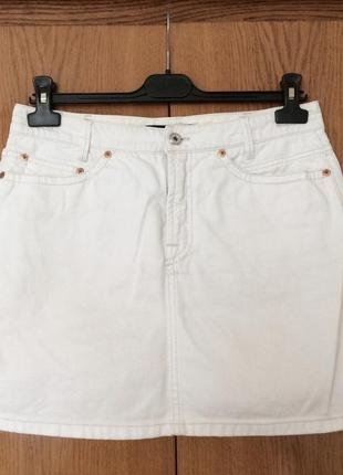 Белая джинсовая юбка marc cain
