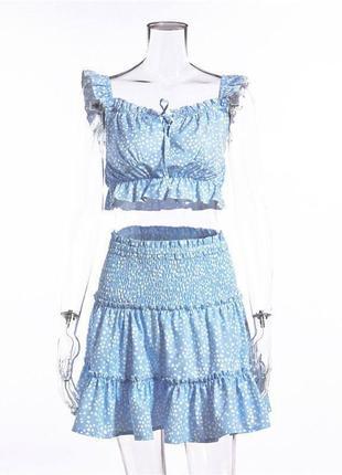 Летние костюмы в нежно-голубом цвете  💙