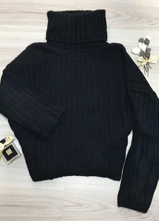 Черный оверсайз свитер из шерсти5 фото