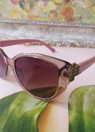 Эксклюзивные брендовые розовые солнцезащитные женские очки 2021