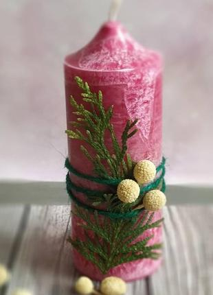 Свічка ручної роботи з натурального пальмового воску