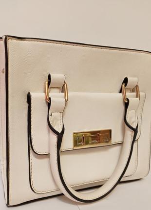 Сумка сумочка клатч фирменная белая мини с длинной ручкой на плечо