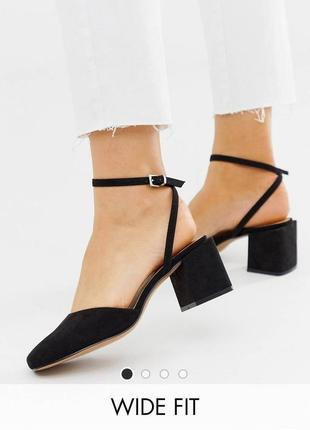 Босоножки туфли на блочном каблуке асос asos