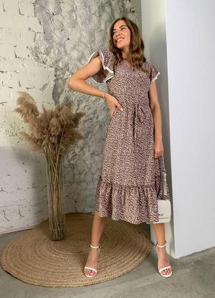 Расцветки ! платье принт горох1 фото