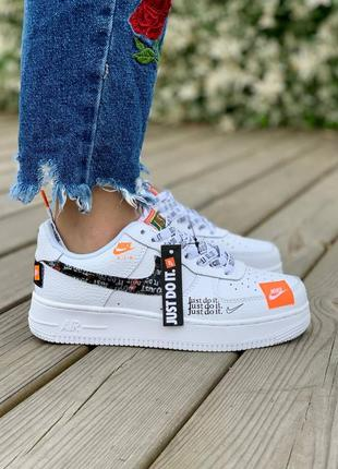 Женские кроссовки nike air force 1 just do it low 'white'