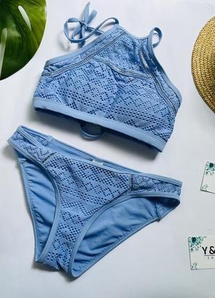 Шикарный красивый голубой раздельный купальник с в идеальном состоянии от 🖤new look🖤