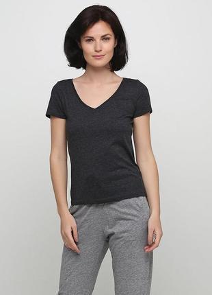 Женская легкая летняя базовая футболка h&m basic