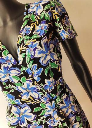 Цветочное платье на запах 💙3 фото