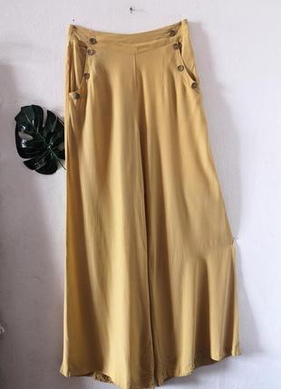 Жёлтые брюки-палаццо jane norman