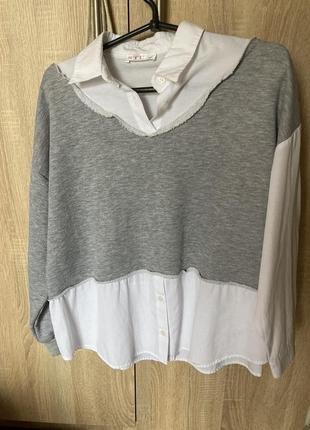 Кофта-рубашка свободная1 фото
