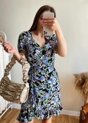 Цветочное платье на запах 💙5 фото