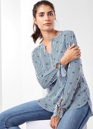 Стильная блузка с принтом из вискозы tchibo(германия) размер 40 евро=46/48