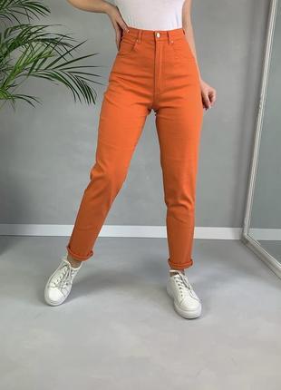 Яркие оранжевые джинсы мои высокая посадка яркие  skinny s