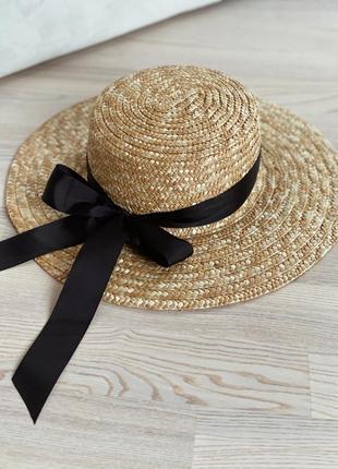 Соломення шляпа канотье